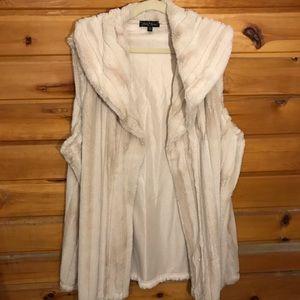 Slinky Brand Faux Fur Tan Vest
